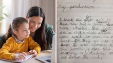 Girl's 'rude' homework leaves mum in hysterics