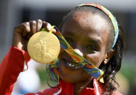 Athletics - Women's Marathon Victory Ceremony