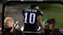 DeSean Jackson in walking boot after suffering injury late vs. Giants