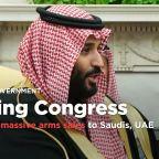 Trump sets massive arms sales to Saudis, UAE