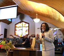Kamala Harris at church: 'This is where we go when the times test our faith'