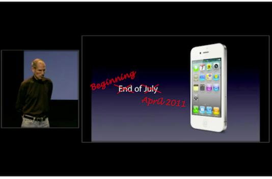 White iPhone 4 available in April?
