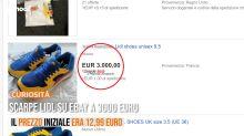 Scarpe Lidl su eBay a 3000 euro