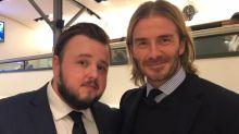 David Beckham admits he was 'starstruck' meeting Game Of Thrones' Samwell Tarly