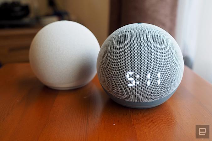 Amazon Echo Dot and Echo Dot with Clock (2020)