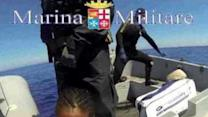 Italian Navy Corvette Urania Rescues Migrants Near Lampedusa