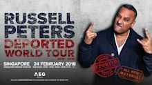 Comedian Russell Peters to return to Singapore for show in February 2018
