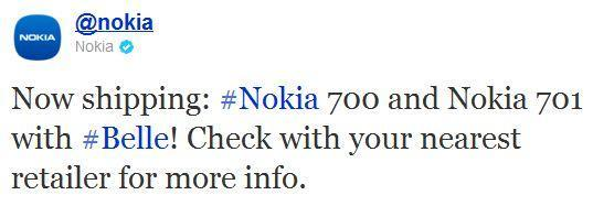 Nokia now shipping 700 and 701 to retailers, all our Symbian Belle are belong to us