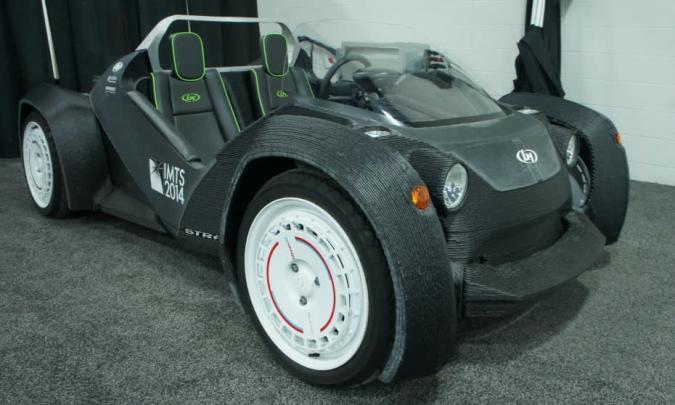 Local Motors' 3D-printed car meets the Detroit Auto Show
