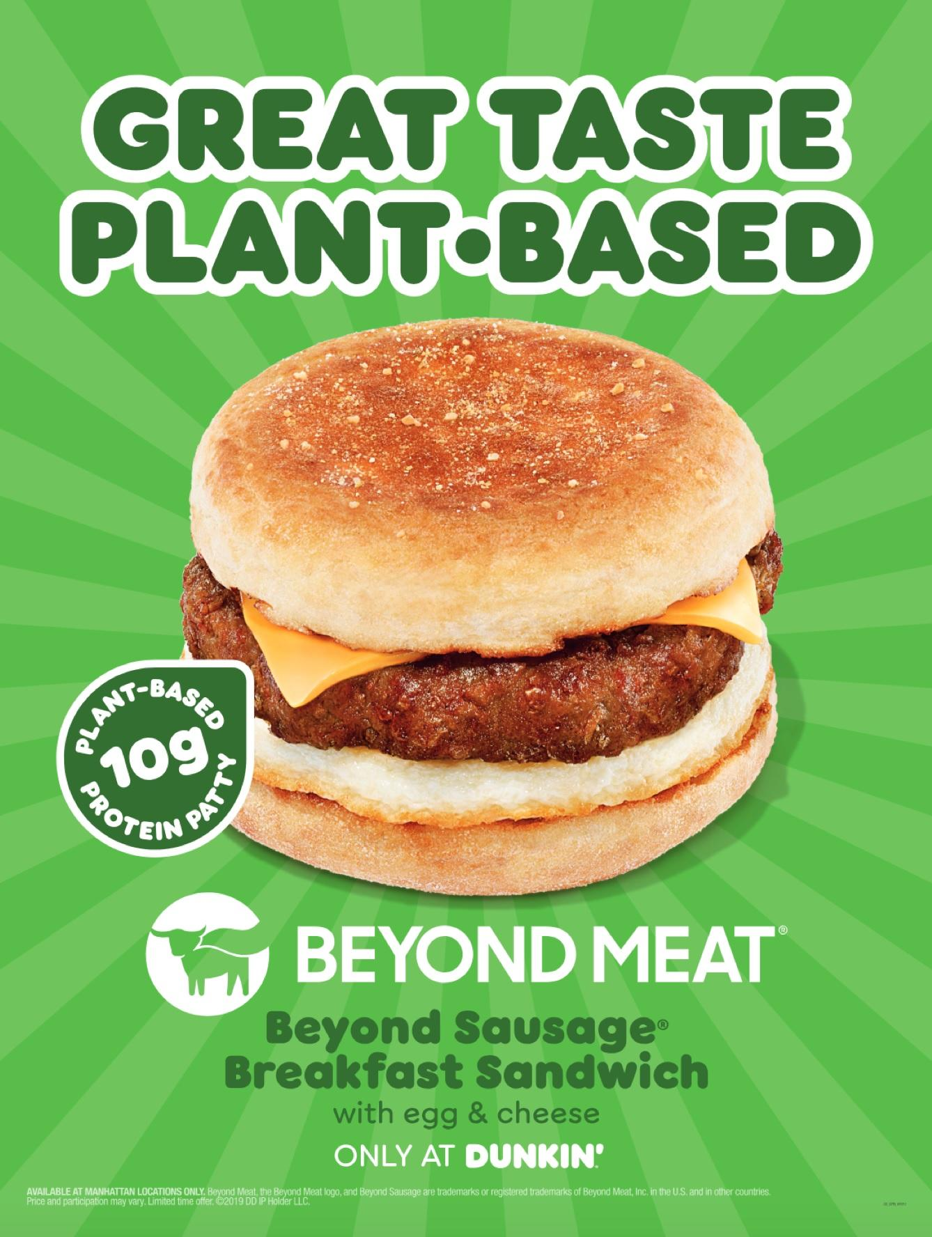 Dunkin' enters the plant-based meat crazy by joining forces with