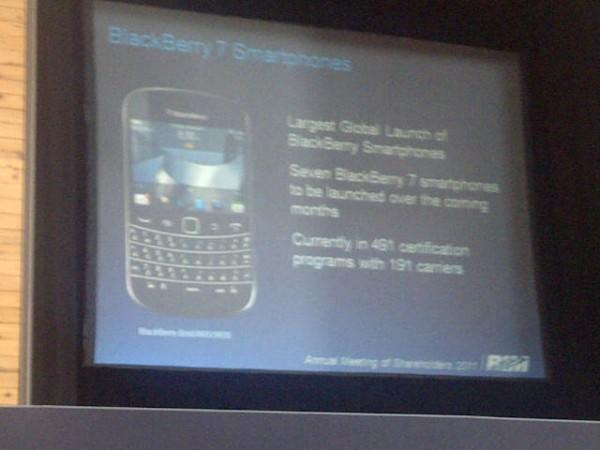 RIM aims to launch seven smartphones with BlackBerry OS 7 in 'the coming months'