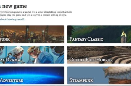 The Internet is your storytelling campfire in Storium [Update]