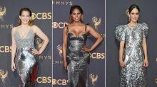 Silberner Emmy-Trend: Die schönsten Glitzerkleider vom roten Teppich