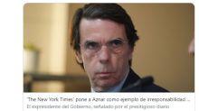 Tras las críticas del New York Times, las redes reprochan a Aznar su decisión de marcharse a su segunda residencia