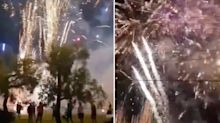 'More than the bridge': Shocking scenes as cops bust huge illegal fireworks party