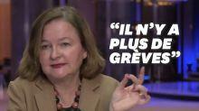 """Pour Nathalie Loiseau, """"il n'y a de plus de grève en France"""", sauf que..."""