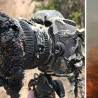 Melted NASA camera's memory card survives fire, shows camera as it melts to death