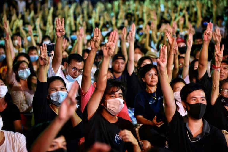 Thai protesters have adopted the three-fingered salute from The Hunger Games movies