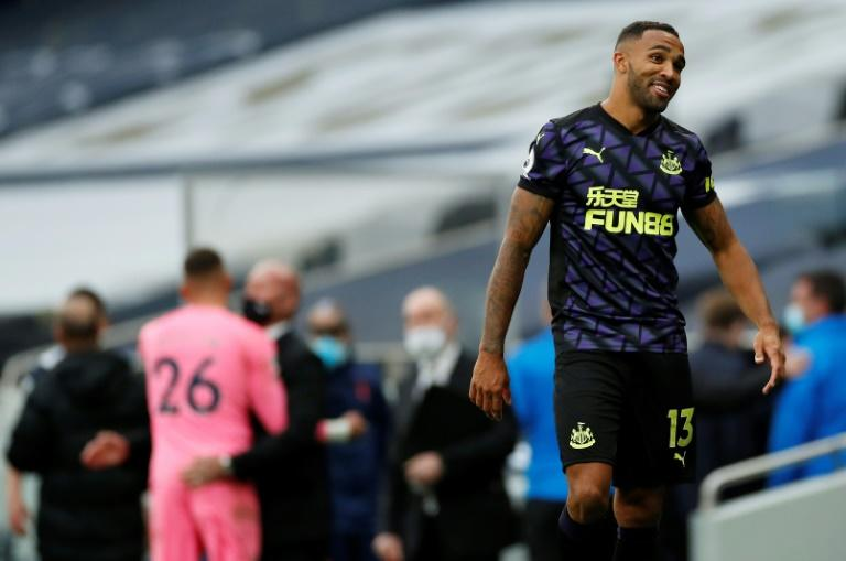 Callum Wilson (right) scored Newcastle's controversial late penalty to salvage a 1-1 draw at Tottenham