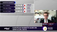 European markets slide on grim econ. data