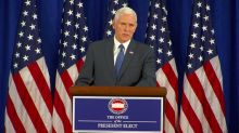 VP-Elect Mike Pence Says Transition Finished 'on Schedule and Under Budget'