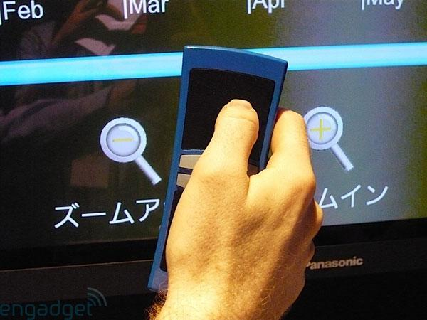 Panasonic's EZ Touch multitouch remote control concept hands-on and video
