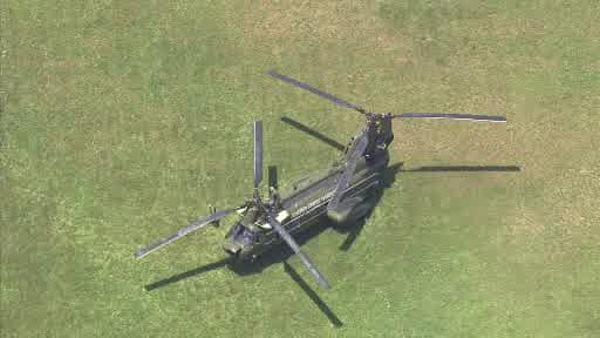 Military helicopter makes emergency landing near Medford, NJ school