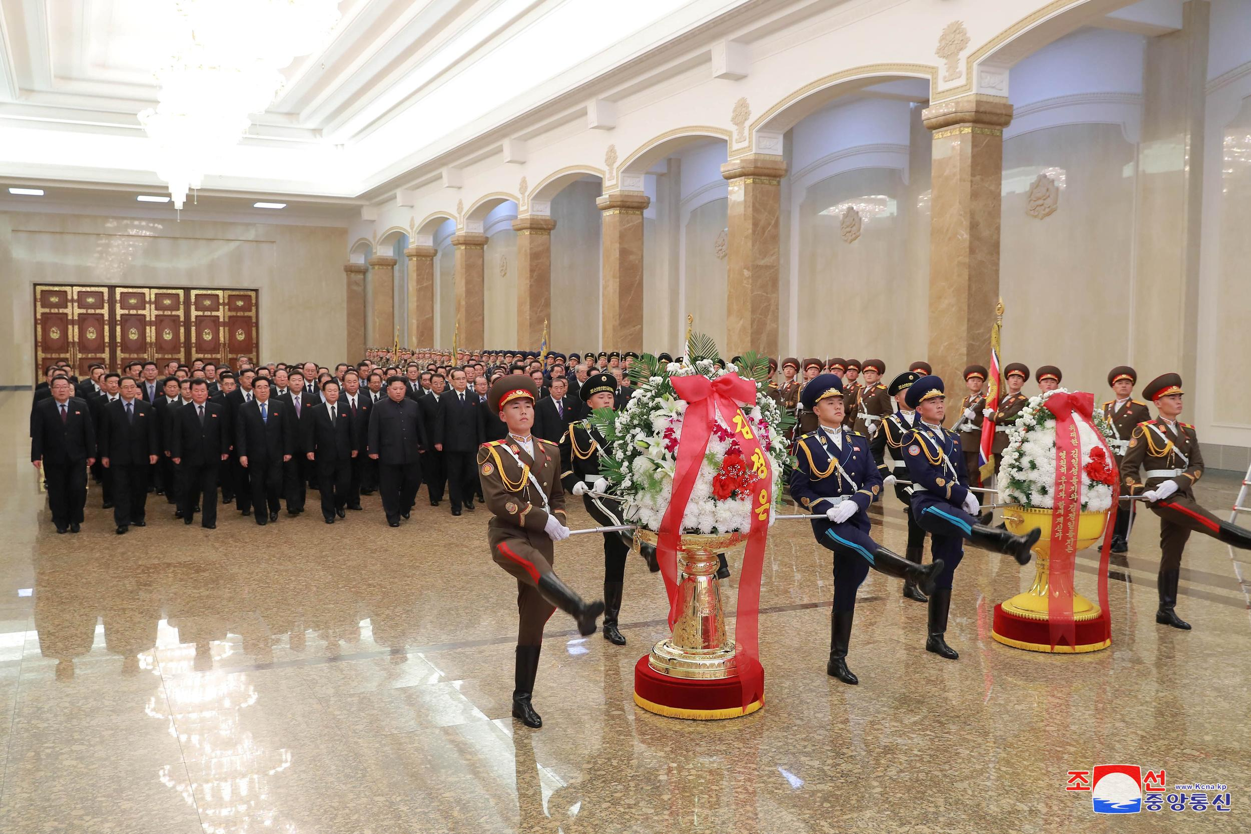 North Korean leader Kim Jong Un visits the Kumsusan Palace of the Sun in Pyongyang, in this undated photo released December 16, 2018 by North Korea's Korean Central News Agency (KCNA). KCNA via REUTERS    ATTENTION EDITORS - THIS IMAGE WAS PROVIDED BY A THIRD PARTY. REUTERS IS UNABLE TO INDEPENDENTLY VERIFY THIS IMAGE. NO THIRD PARTY SALES. SOUTH KOREA OUT.