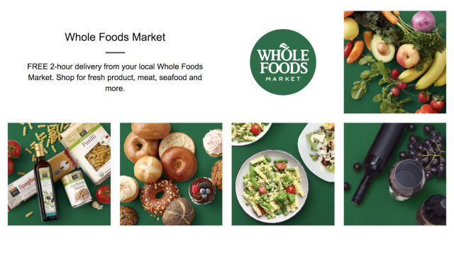 Amazon now delivers Whole Foods products to your home in two hours