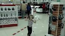 Little Kid Jams Out In Store!