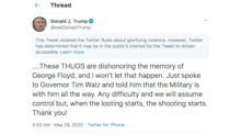 Twitter-Trump Tension Mounts on Warning Over Shooting Tweet