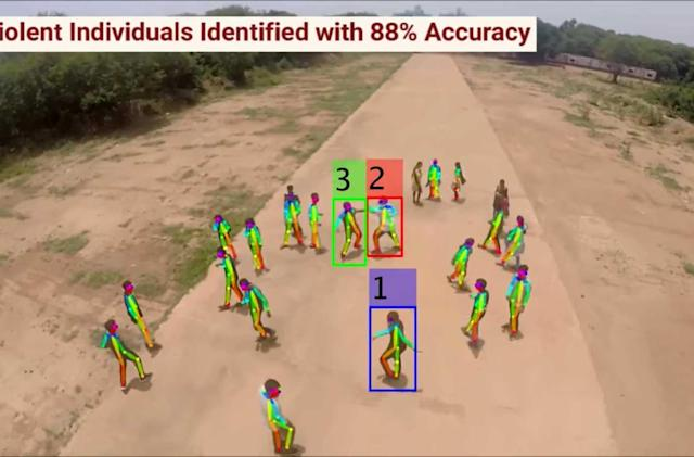 Experimental drone uses AI to spot violence in crowds