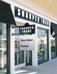 Sharper Image in final throes, stores being liquidated, then shuttered