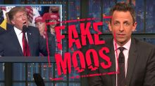Seth Meyers Chews Out 'Desperate' Donald Trump Over Cow Lies: 'Fake Moos'