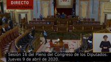 Así estaba el Congreso tras el anuncio del PP: mira a la izquierda de la imagen