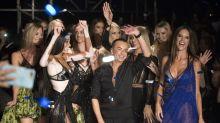 Victoria's Secret models, Winnie Harlow and Hailey Baldwin take Julien Macdonald's show by storm