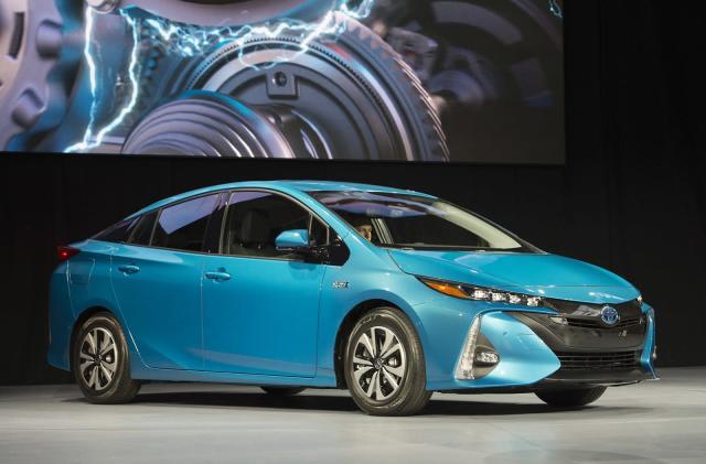 Toyota's Prius Prime plug-in hybrid starts at $27,100