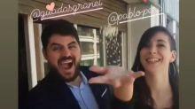 Coronavirus: Suspendieron el casamiento y sus amigos los sorprendieron con una fiesta virtual en Instagram