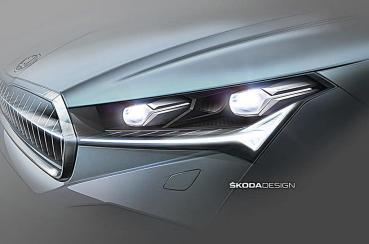 2020年式SKODA電動休旅 Enyaq iV再釋出預告圖預告照明系統的新設計