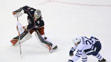 Dubois caps hat trick in OT, Blue Jackets put Leafs on brink