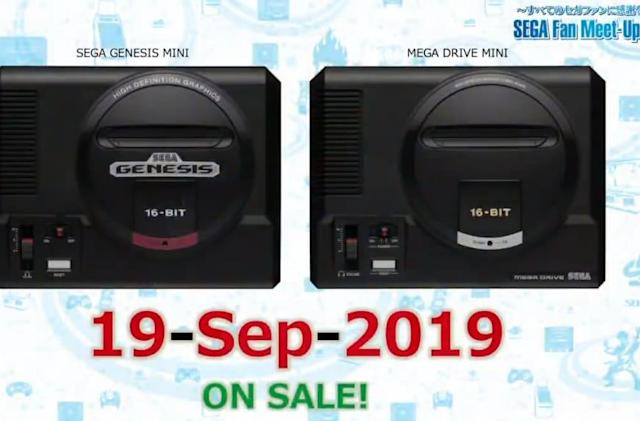 Sega Genesis Mini will launch on September 19th with 40 games