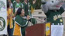 Oakland shows off playoff pride, hopes to keep A's