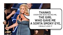 Amy Schumer Thanks 'The Girl Who Gave Me a Sorta Smoky Eye'