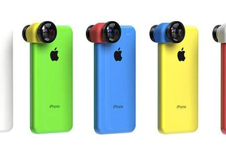 Olloclip runs its 3-in-1 lens through the color machine for the iPhone 5c