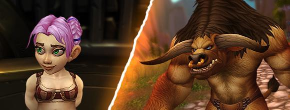 Warlords of Draenor page updated with new gnome, tauren models