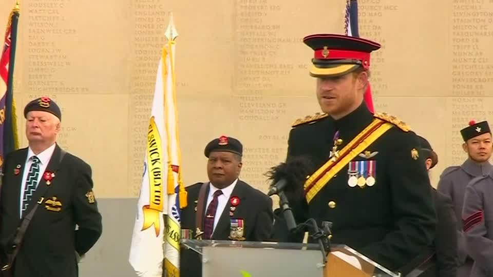 Prince Harry joins Britain in silence for Armistice Day ...