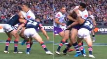 Fans erupt over Cronk's 'inspirational' hit on Storm giant