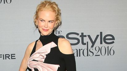 Kidman shows off a lot of leg in daring gown