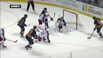 Tyler Myers ties game with 25 seconds left