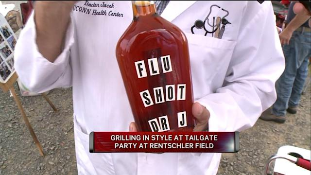 Doctor Gives Alcoholic `Flu Shots` to Tailgaters